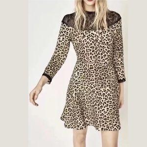 ZARA ANIMAL PRINT DRESS BLAC GOLD LEOPARD CHEETAH